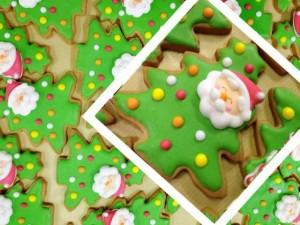 サンタツリーのアイシングクッキー
